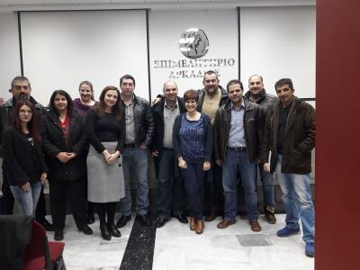 End of the Cheese Making Seminar of Centre for Agrifood Entrepreneurship of Messinia (CAEM)