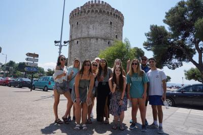 Study Abroad students at Perrotis College